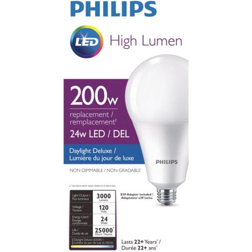 Philips 200W Equivalent Daylight A35 Medium LED Light Bulb